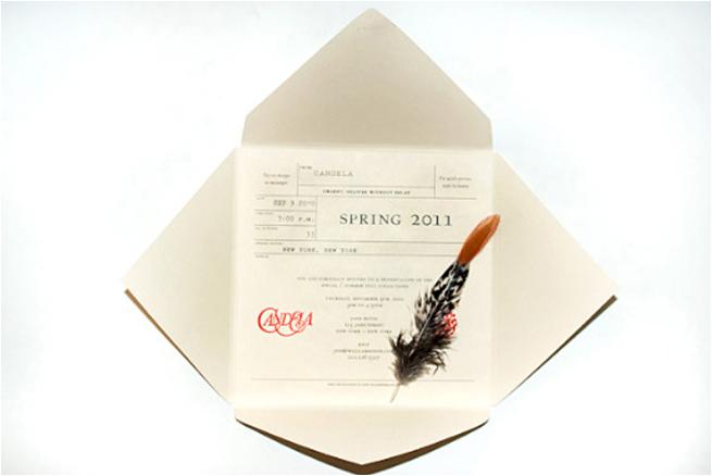 2011 fashion week invitations design packaging inc